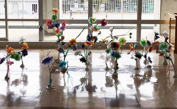 木と紙のイケ花